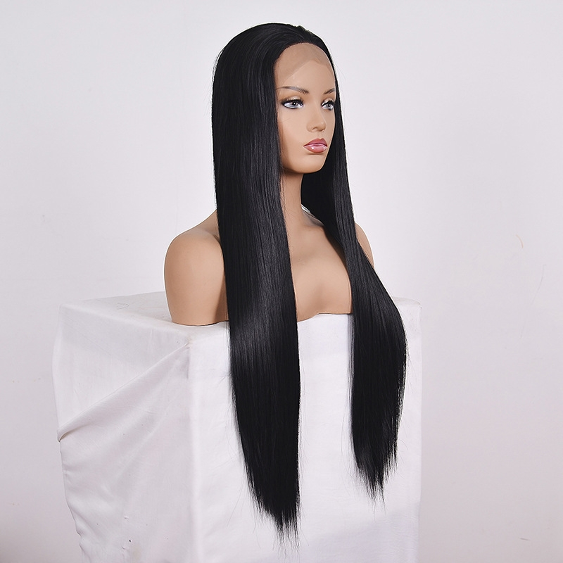 Straight Lace Front Human Hair Wigs, Stretched Length: 26 inches, Style: 1
