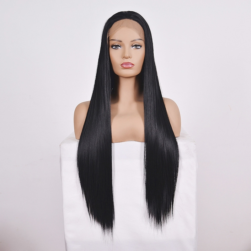 Straight Lace Front Human Hair Wigs, Stretched Length: 26 inches, Style: 2