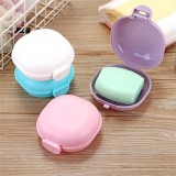 3 PCS Bathroom Dish Plate Case Home Shower Travel Hiking Holder Container Soap Box (purple)