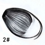 Fake Bangs Clip Hairpiece Synthetic Bangs Hair (Jet-black)