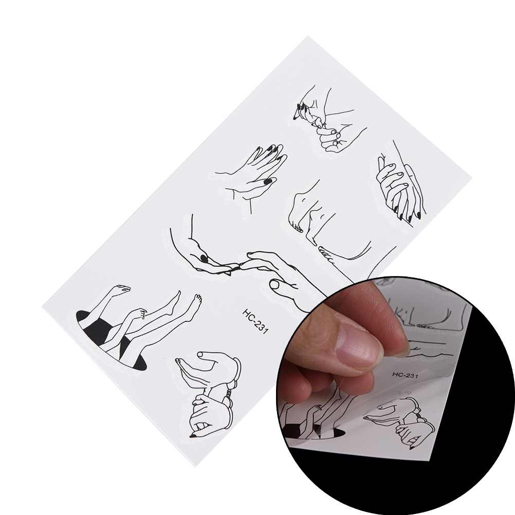5 PCS Tattoo Fingers Toes Sexy Waterproof Temporary Tattoo Sticker