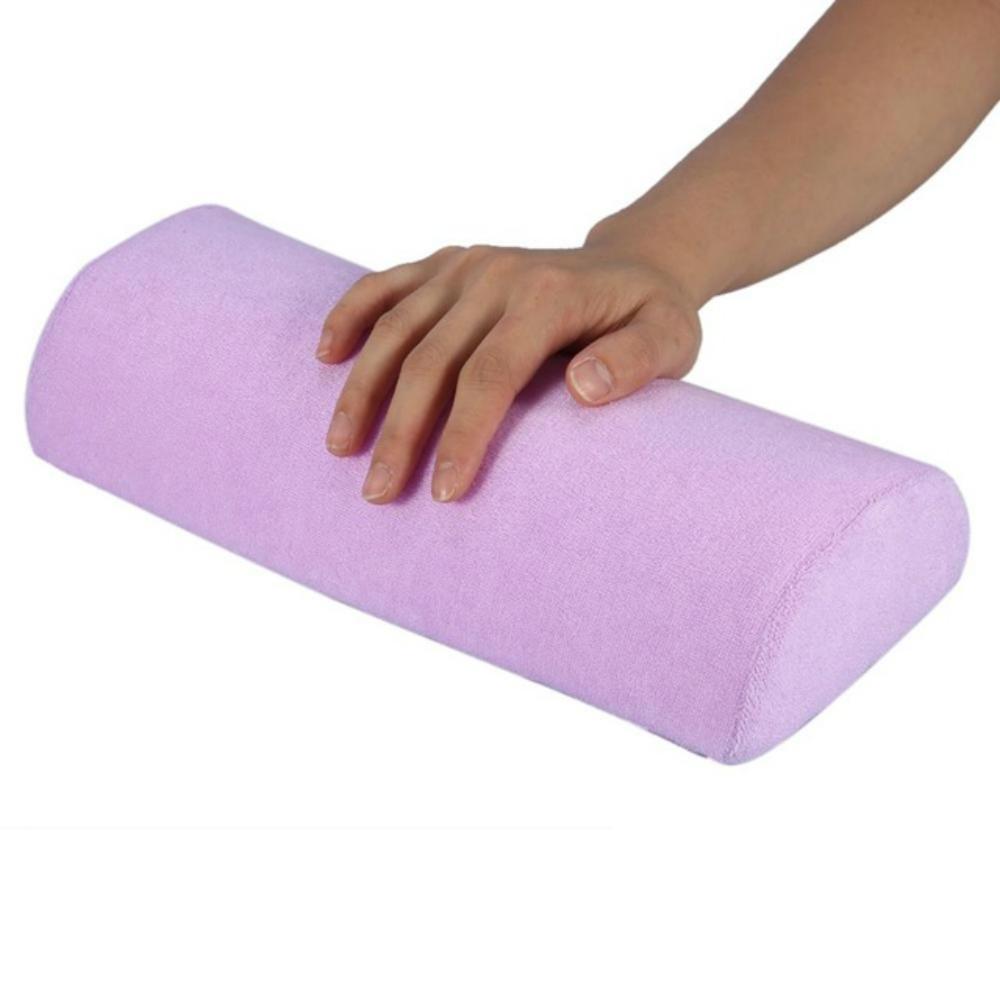 5 PCS Soft Hand Rests Washable Hand Cushion Sponge Pillow Holder Arm Rests Nail Art Manicure Hand Pillow Cushion (Purple)