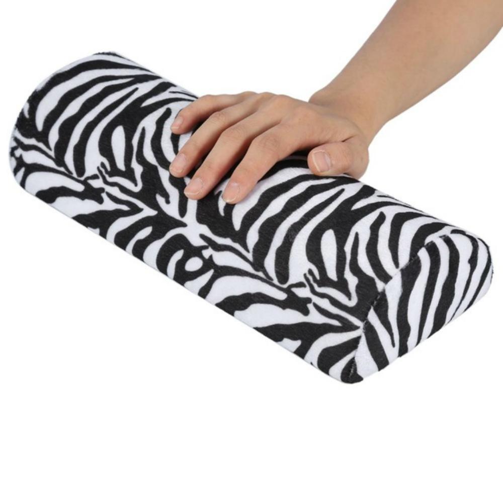 5 PCS Soft Hand Rests Washable Hand Cushion Sponge Pillow Holder Arm Rests Nail Art Manicure Hand Pillow Cushion (Zebra Pattern)