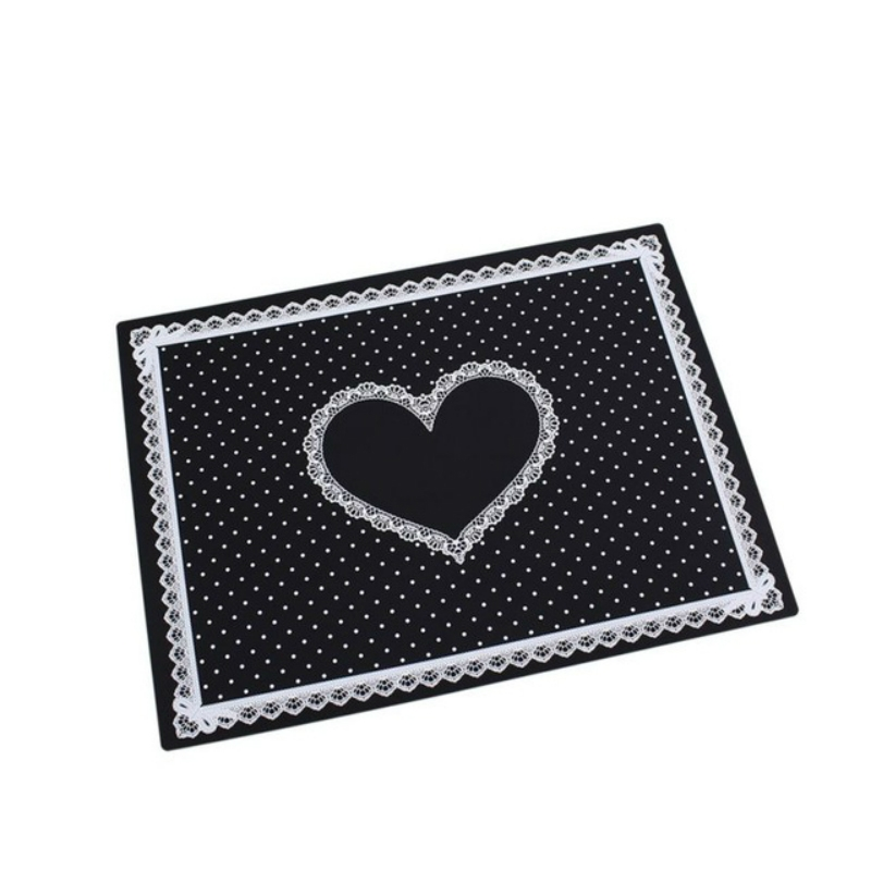 Nail Art Salon Manicure Silicone Pillow Hand Holder Cushion Lace Table Washable Foldable Mat (Black)