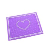 Nail Art Salon Manicure Silicone Pillow Hand Holder Cushion Lace Table Washable Foldable Mat (Purple)