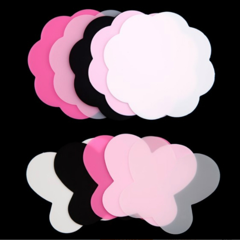 3 Sets Silicone Table Mat Pad Colorful Washable Stamping Plate Professional Nail Art Manicure Mat (Black)