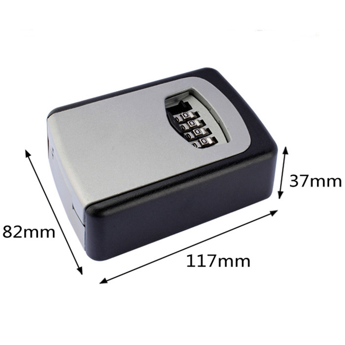 Safety Home Durable Storage Box Key Hider 4 Digit Security Secret Code Lock Wall Mounted Combination Password Keys Box