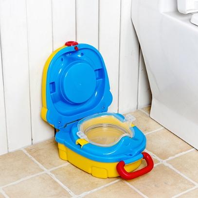 Children Small Toilet Children Portable Toilet Travel Portable Car-mounted (yellow)