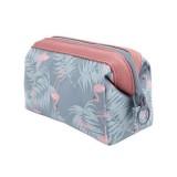 Cosmetic Bag Women Necessaire Make Up Bag Travel Waterproof Portable Makeup Bag Toiletry Kits (Grey egret)