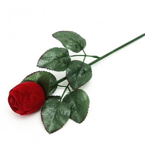 2 PCS Red Rose Velvet Wedding Ring Box Gift Box Valentines Engagement Box Jewelery Packaging Box