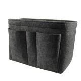 Felt Bag In The Package Creative Cosmetics Storage Bag Felt Multi-Function Debris Finishing Basket (Grey)