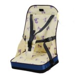 Portable Heightening Folding Baby Dining Chair Baby Eating Chair Mummy Bag (Yellow)