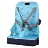 Portable Heightening Folding Baby Dining Chair Baby Eating Chair Mummy Bag (Blue)