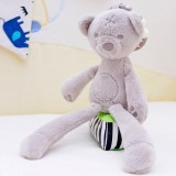 Rabbit Bear Soft Plush Toy for Infant Bed Pram With Hanging Ring (Bear)