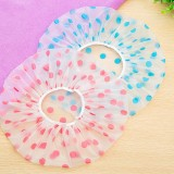 3 PCS Dot Waterproof Shower Cap Thicken Bathing Cap for Women, Color Random Delivery