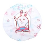 5 PCS Cute Cartoon Women Kids Shower Caps Colorful Bath Shower Hair Cover Adults Waterproof Bathing Spa Cap (Rabbit)