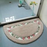 Non Slip Mat Rug Carpets Living Room Bedroom Floor Mat Rug, Size: 40X60CM (Semicircle Camel)