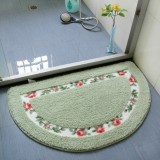 Non Slip Mat Rug Carpets Living Room Bedroom Floor Mat Rug, Size: 40X60CM (Semicircle Green)