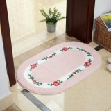 Non Slip Mat Rug Carpets Living Room Bedroom Floor Mat Rug, Size: 40X60CM (Oval Pink)