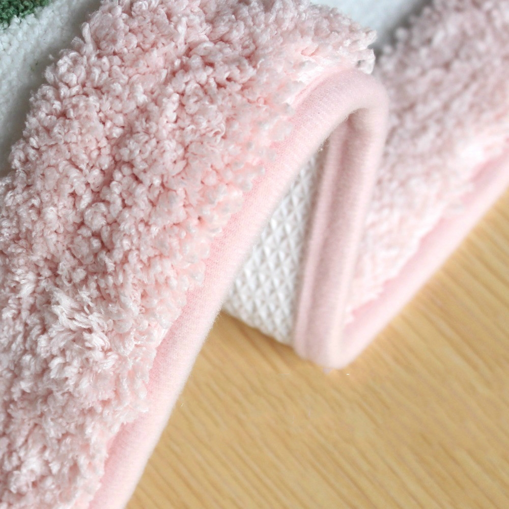 Non Slip Mat Rug Carpets Living Room Bedroom Floor Mat Rug, Size: 40X60CM (Oval Pink)