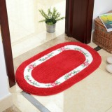 Non Slip Mat Rug Carpets Living Room Bedroom Floor Mat Rug, Size: 40X60CM (Oval Red)