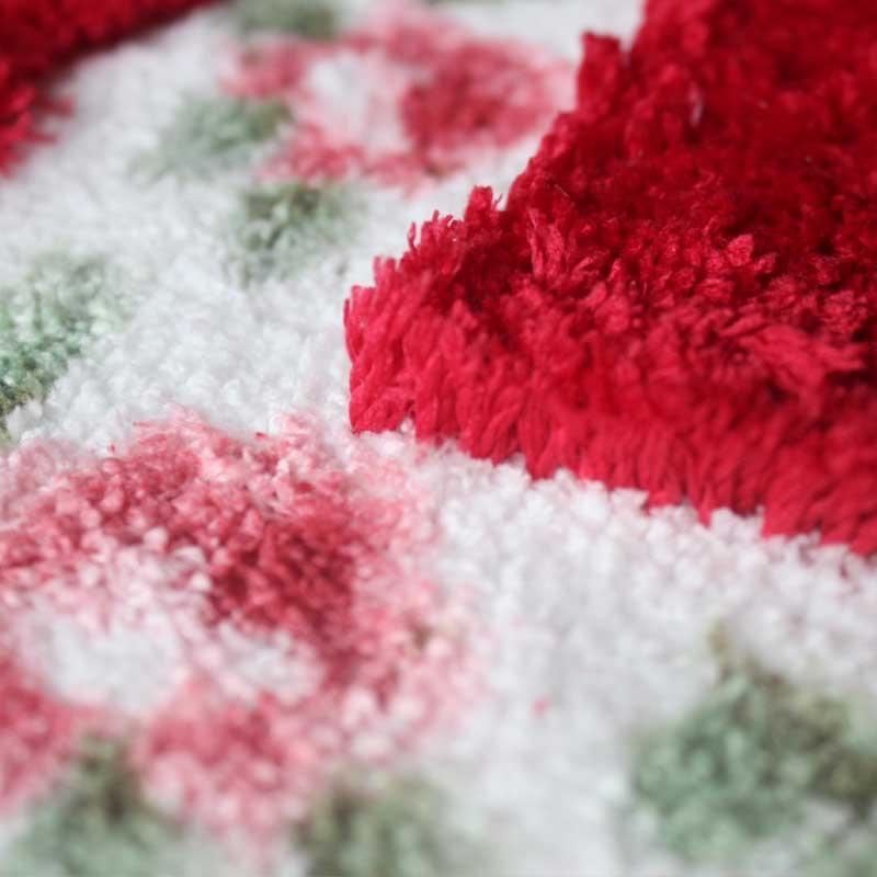 Non Slip Mat Rug Carpets Living Room Bedroom Floor Mat Rug, Size: 40X60CM (Oval Red)