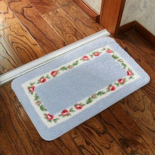 Non Slip Mat Rug Carpets Living Room Bedroom Floor Mat Rug, Size: 40X60CM (Rectangle Blue)
