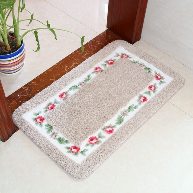 Non Slip Mat Rug Carpets Living Room Bedroom Floor Mat Rug, Size: 40X60CM (Rectangle Camel)