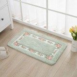 Non Slip Mat Rug Carpets Living Room Bedroom Floor Mat Rug, Size: 40X60CM (Rectangle Green)