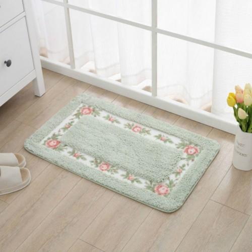 Non Slip Mat Rug Carpets Living Room Bedroom Floor Mat Rug, Size: 40X60CM (Rectangle Green)