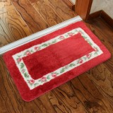 Non Slip Mat Rug Carpets Living Room Bedroom Floor Mat Rug, Size: 40X60CM (Rectangle Red)