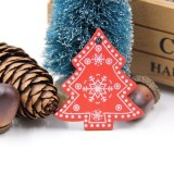 3 PCS DIY Wooden Crafts Pendants Ornaments For Christmas Party Xmas Tree Ornaments (Tree)