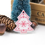 3 PCS DIY Wooden Crafts Pendants Ornaments For Christmas Party Xmas Tree Ornaments (Tree 01)