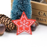 3 PCS DIY Wooden Crafts Pendants Ornaments For Christmas Party Xmas Tree Ornaments (Star 03)
