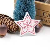3 PCS DIY Wooden Crafts Pendants Ornaments For Christmas Party Xmas Tree Ornaments (Star 04)