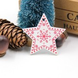 3 PCS DIY Wooden Crafts Pendants Ornaments For Christmas Party Xmas Tree Ornaments (Star 01)