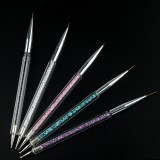 Nail Art Dotting Pen Acrylic Rhinestone Crystal UV Gel Painting Manicure Tool Drawing Liner Flower Brush Decoration