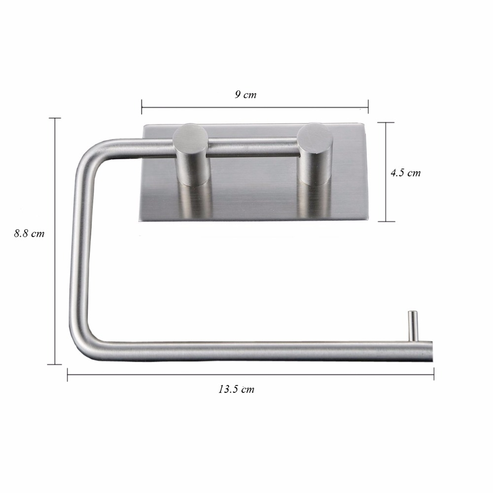 RD9181 304 Stainless Steel Self-Adhesive Tissue Rack Toilet Paper Roll Holder Hangers