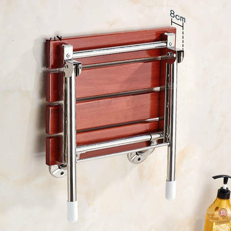 Wood Folding Wall Mounted Relaxation Shower Chair Solid Seat