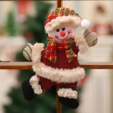 Christmas Ornaments Gift Santa Claus Snowman Dancing Pendant Tree Toy Doll Hang Decorations (Snowman)