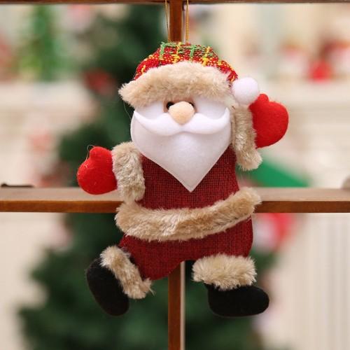 Christmas Ornaments Gift Santa Claus Snowman Dancing Pendant Tree Toy Doll Hang Decorations (Santa Claus)