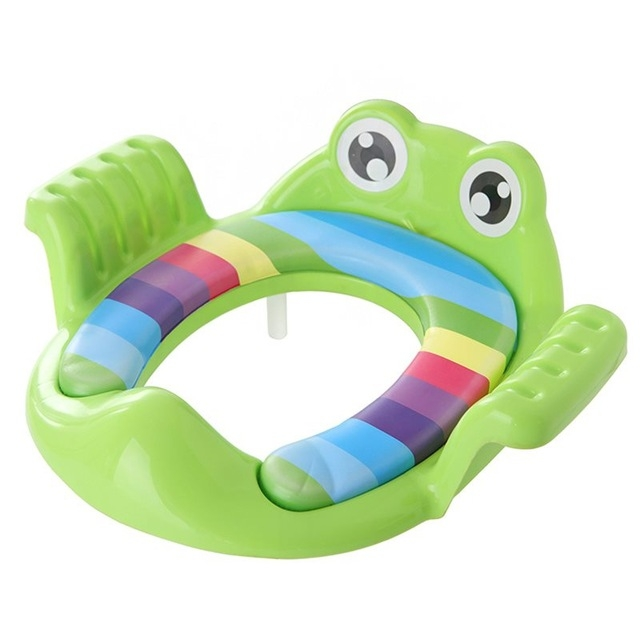 Baby Toilet Seat Cushion Toilet Seat Ring Baby Auxiliary Toilet Child Seat Washer (Green)