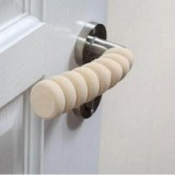 10 PCS Baby Child Safety Doorknob Pad Cases Spiral Anti-collision Security Door Handle Protective Sleeve (Beige)