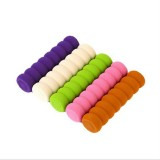 10 PCS Baby Child Safety Doorknob Pad Cases Spiral Anti-collision Security Door Handle Protective Sleeve (Beige)