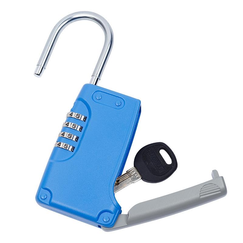 3 PCS Key Safe Box Password Lock Keys Box Metal Lock Body Padlock Type Storage Mini Safes (Green)