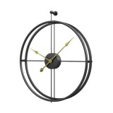 55cm Large Silent Wall Clock Modern Design Clock For Home Decor Office European Style Hanging Wall Watch Clock (Black Gold)
