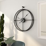55cm Large Silent Wall Clock Modern Design Clock For Home Decor Office European Style Hanging Wall Watch Clock (Black)