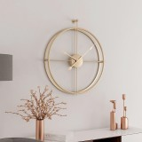 55cm Large Silent Wall Clock Modern Design Clock For Home Decor Office European Style Hanging Wall Watch Clock (Gold)