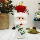 Wine Cover Bottle Bags Christmas Dinner Party Table Decorations (Santa Claus)