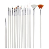 15 PCS/Set Nail Art Tools Brushes for Manicure Rhinestones Nails Decorations Nail Nrush Kit Painting Fingernail Tool Pen Kit
